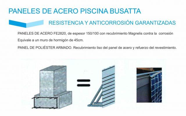 panel de acero